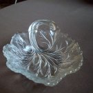 Clear Glass Handled Dish