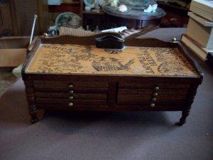 Vintage Enesco Wood Desk Coaster Set