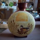Hand Painted Ceramic Canteen Vase