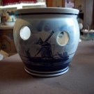 Vintage Delft Hand Painted Candle Pot
