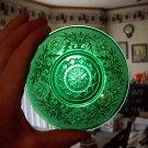 Vintage Green Glass Saucer