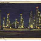 Vintage Postcard  Night Time in the Oil Fields