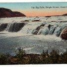 Vintage Postcard The Big Falls Great Falls Mont.