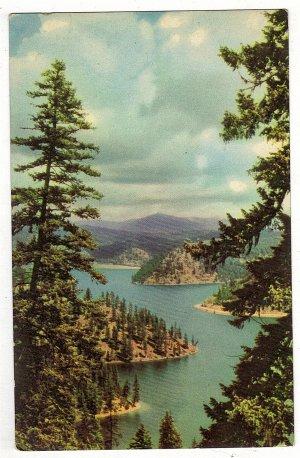 Vintage Postcard Coeur D'Alen Lake, Idaho