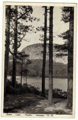 Vintage Real Photo Postcard Echo Lake North Conway NH