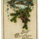 Antique Postcard  Best Christmas Wishes