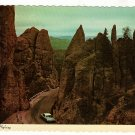 Vintage Postcard  Needles Highway Black Hills, South Dakota