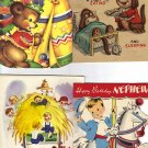 Lot of Four 1950's Birthday Cards