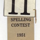 Vintage Beadle County Spelling Contest Ribbon 1951