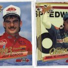Lot of 2 Wheels Rookie Thunder Jeff Gordon Cards