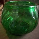 Antique Green Glass Bowl with Rough Ponytail