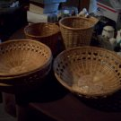 Lot of 6 Wicker Baskets