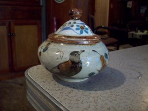 Lidded Mexico Pottery Dish