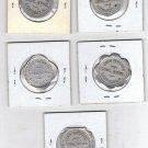 Lot of 5 Vintage John Kingdom Tokens