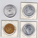 Lot of 4 Plastic Tokens (All Different)