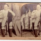 Antique Stereoscope Card  Necessity is the Mother of Invention