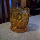Vintage Amber Glass Candle Holder