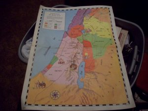 1961 The Graded Press Map of Palestine in Jesus' Day