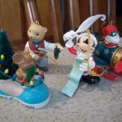 Lot of 4 Hangable Christmas Ornaments Disney Hallmark