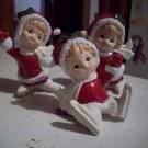 Lot of 3 Ceramic Skating Girls