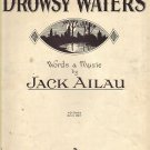 Vintage Sheet Music Drowsy Waters