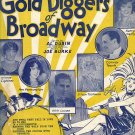 Vintage Sheet Music  The Gold Diggers Of Broadway