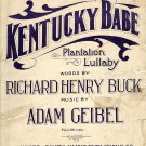 Vintage Sheet Music  Kentucky Babe Plantation Lullaby