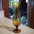 Vintage Delicate Amber Glass Vase