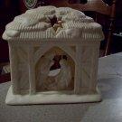 Partylite Bisque Porcelain Nativity Sceen Tealite Holder