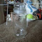 Planters Peanuts Glass Wheat Jar