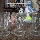 3 Hershey's Sundae Goblets