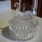 Clear Glass Swan Candy Dish