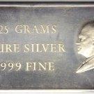 President Dwight Eisenhower 25 Gram .999 Fine Silver Bar