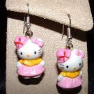 Pink Hat HELLO KITTY Earrings