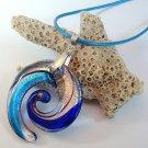 Vortex Lampwork Glass Pendant Necklace #1