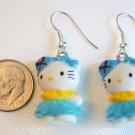 Kawaii HELLO KITTY Earrings - Choose Pink or Blue
