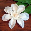 "Handmade Large 4"" Flower Hair Clip - Blue or White"