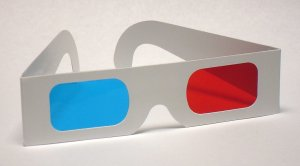 Classic Red/Cyan 3D Glasses - Paper Anaglyph