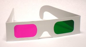 New! Magenta/Green 3D Glasses - Paper Anaglyph
