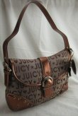 Fabric Handbag with Front Latch & Star + Heart Dangle