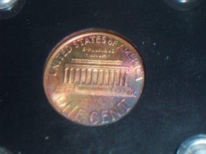 1997 D Cent AU Toned Penny