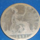 1891 British Victoria Large Penny
