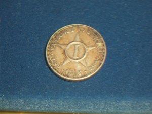 1916 Un centavo One cent Cuba