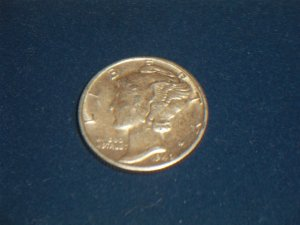 1940-D Mercury Dime Winged Liberty