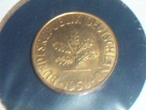 1950 10 pfennig Germany Au+ or Unc