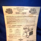 BRIGGS & STRATTON ILLUSTRATED ENGINE MANUAL - 1975