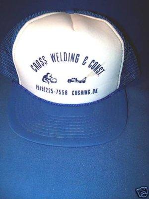 CROSS WELDING BALL CAP HAT- NEW - CUSHING,OK