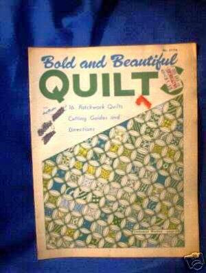 VINTAGE OLD FASHIONED QUILT PATTERN BOOK-16 PATTERNS!