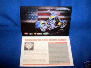 COUNTY C2006 SPEEDCO CHOPPER MOTORCYCLE ORANGE COUNTY CHOPPER COLLECTOR CARD