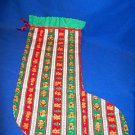 LARGE HANDMADE CHRISTMAS STOCKING WITH BEAR DESIGNS